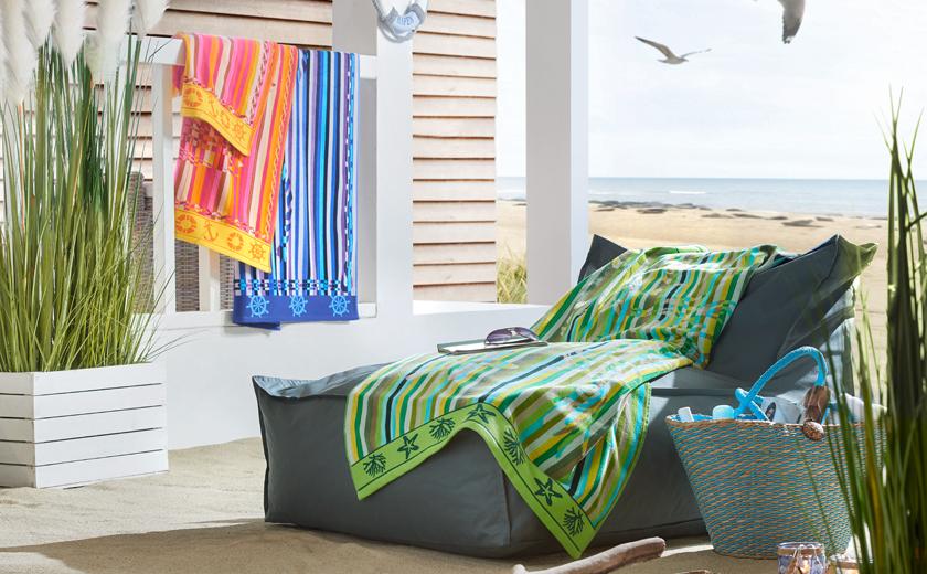 Brisače za na plažo barvne pisane